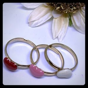 Stackable Ceramic Heart Fashion Rings -[JW-115]